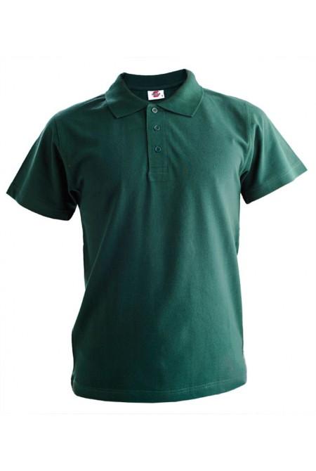 Поло мужское тёмно-зелёное