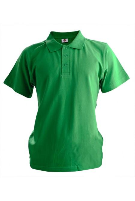 Поло мужское зелёное