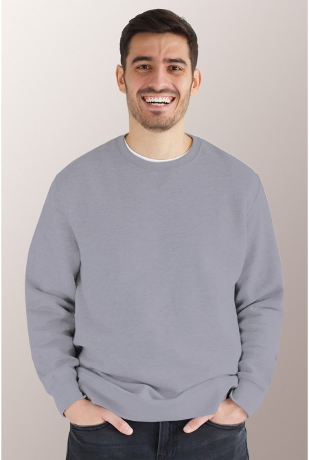 Серый свитшот мужской