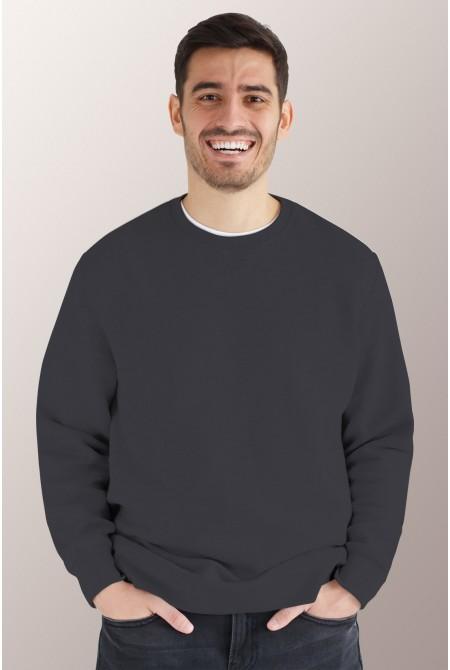 Тёмно - серый свитшот мужской