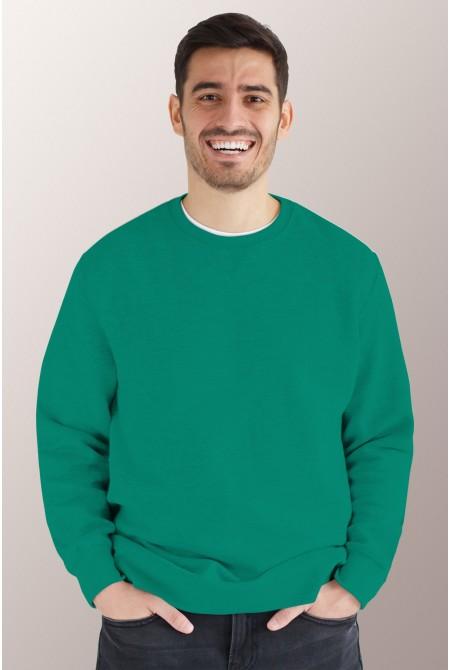 Зелёный свитшот мужской