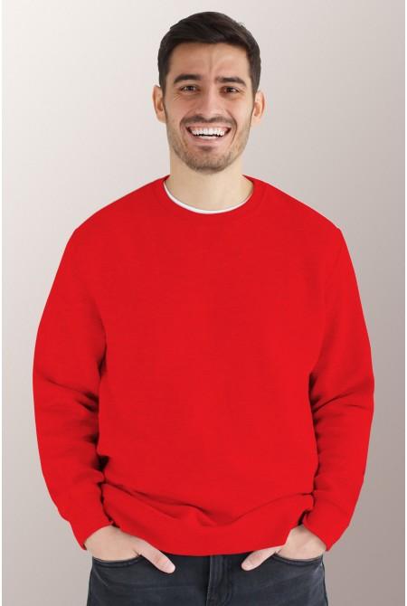 Красный свитшот мужской