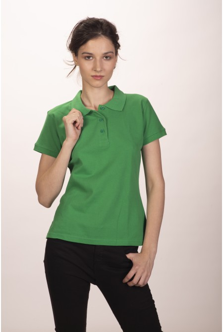 Поло женское зелёное