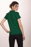 Поло женское тёмно - зелёное 3 (миниатюра)