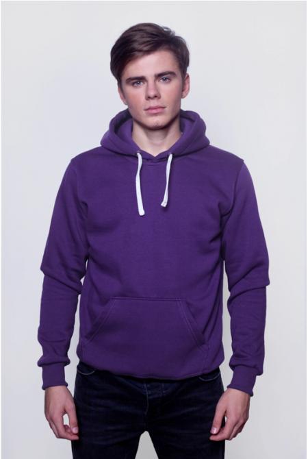 Фиолетовая мужская толстовка