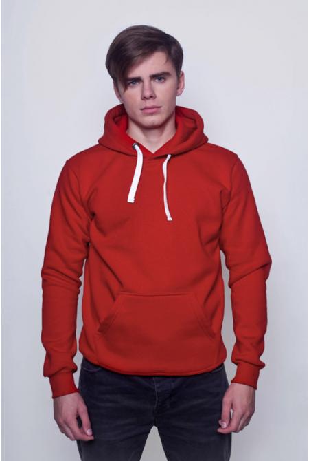 Красная мужская толстовка