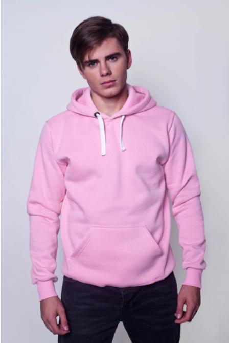 Розовая мужская толстовка