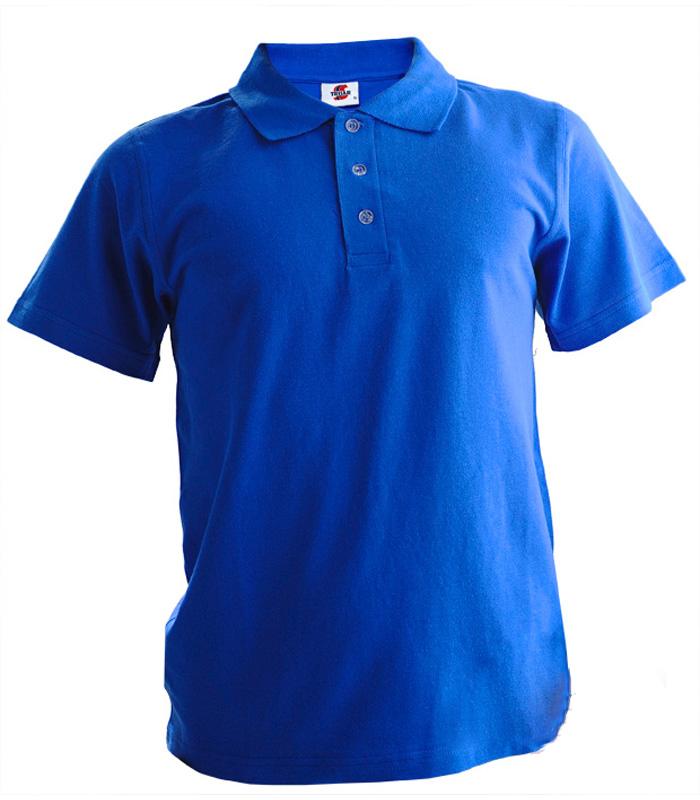 Поло мужское синее 1