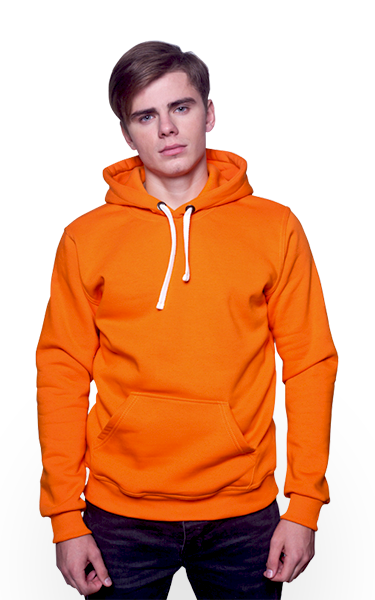 Оранжевая мужская толстовка 1