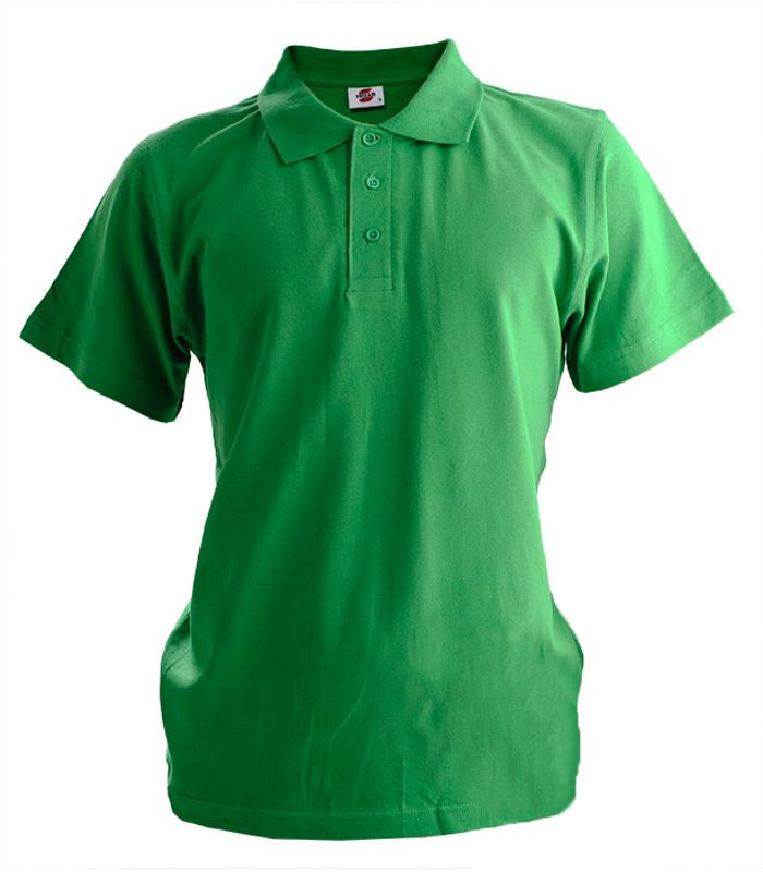 Поло мужское зелёное 1