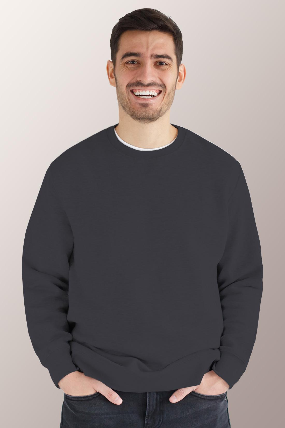 Тёмно - серый свитшот мужской 1