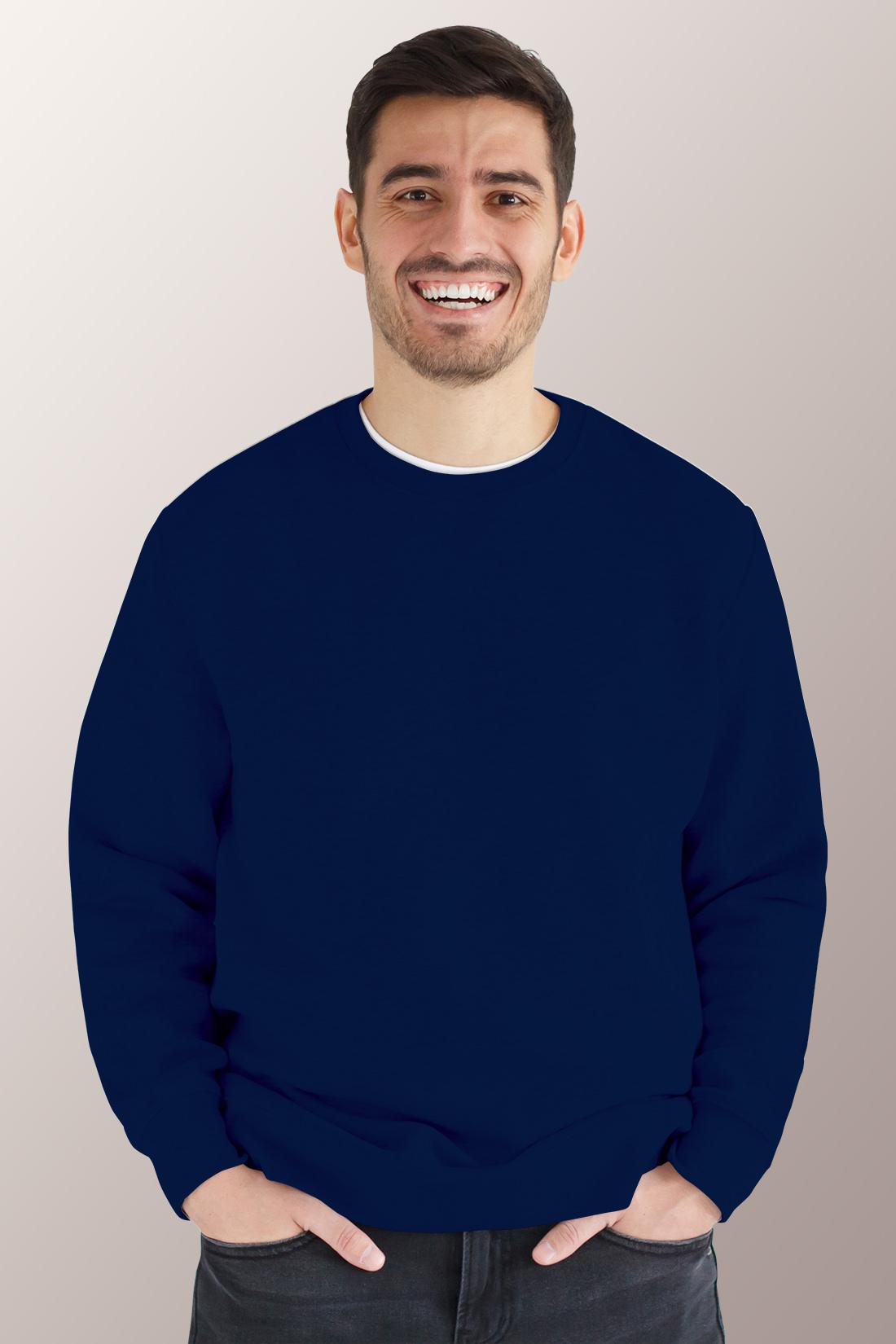 Тёмно - синий свитшот мужской
