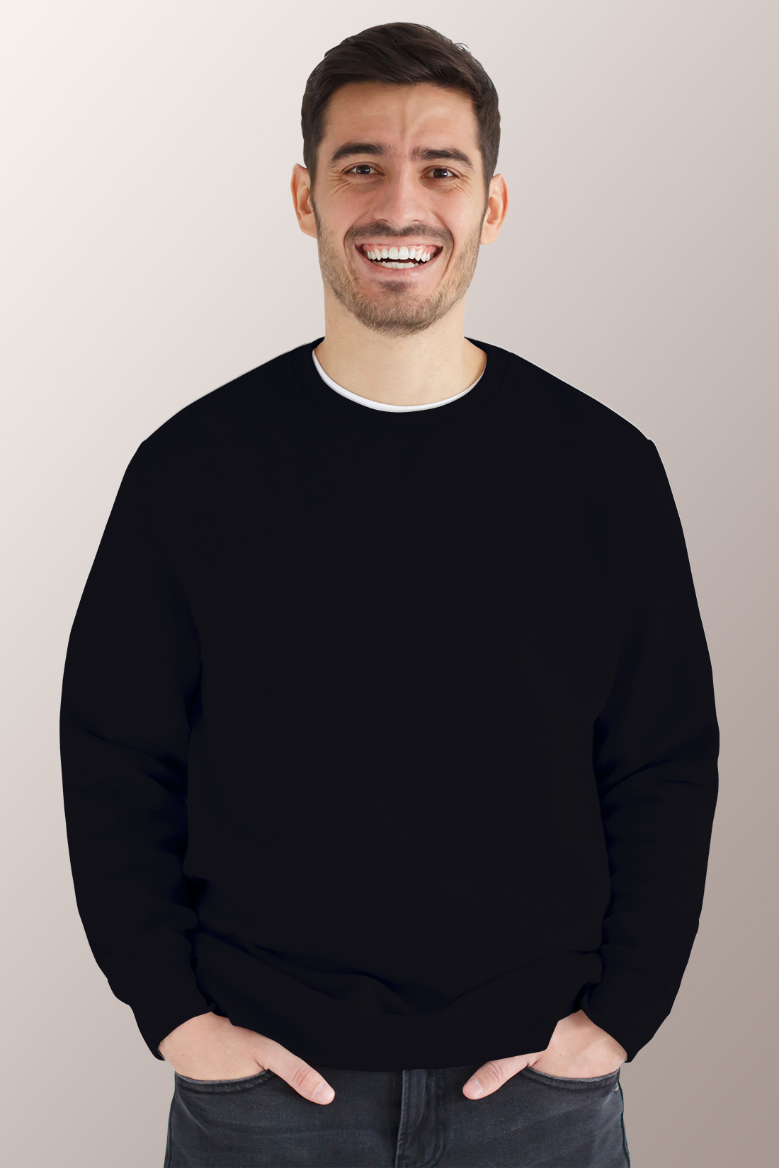Чёрный свитшот мужской 1
