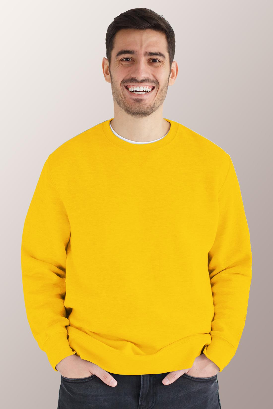 Жёлтый свитшот мужской 1