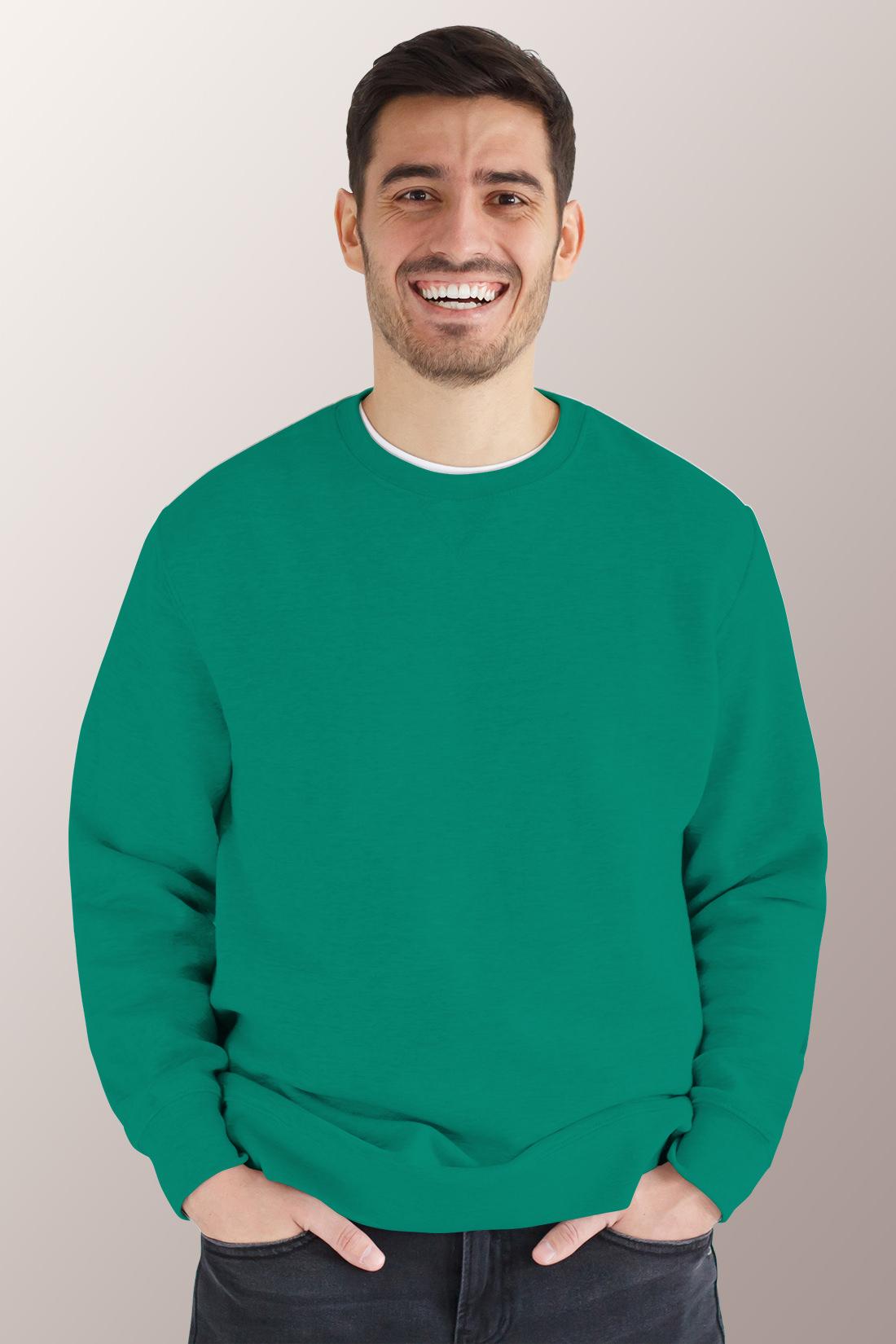 Зелёный свитшот мужской 1