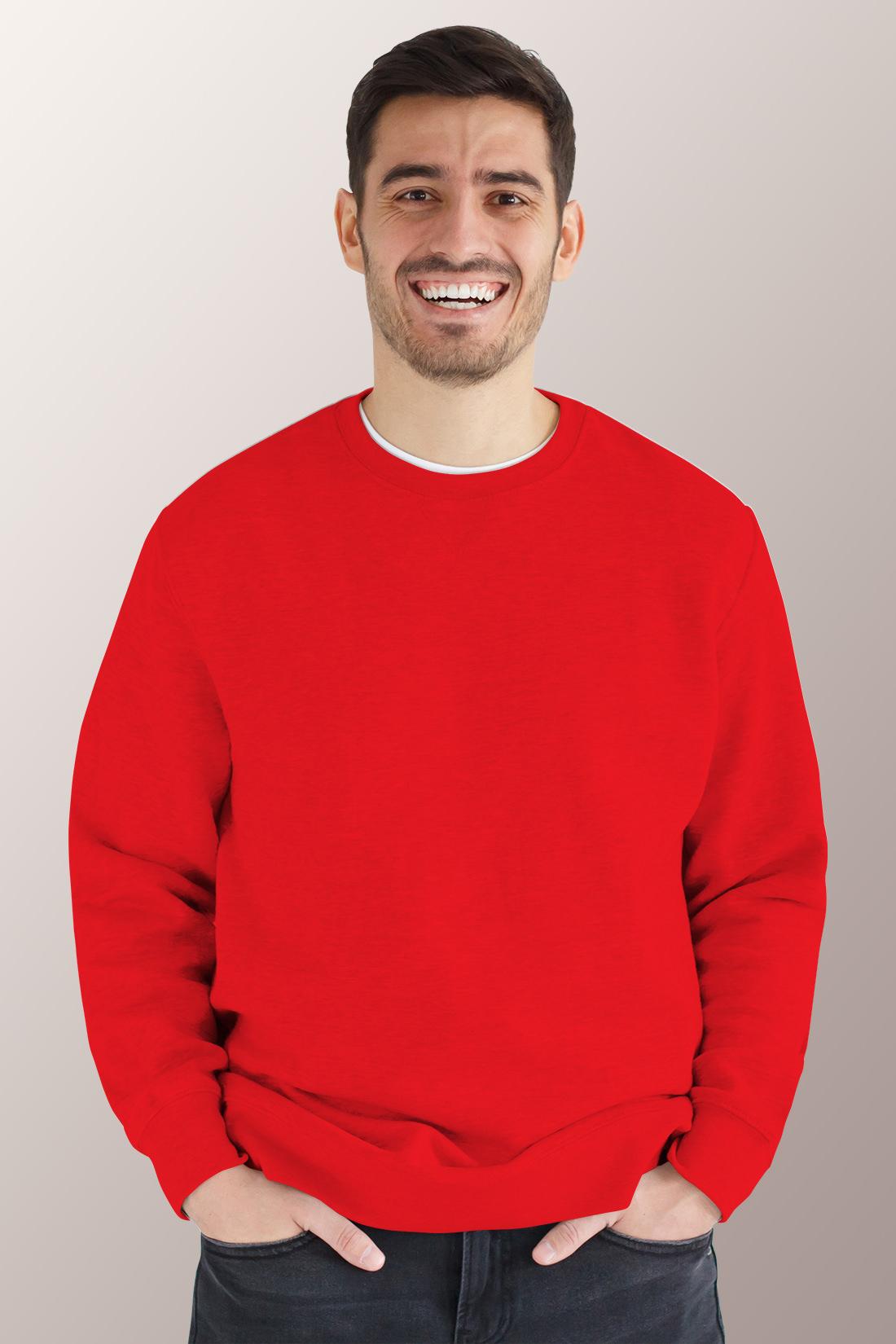 Красный свитшот мужской 1