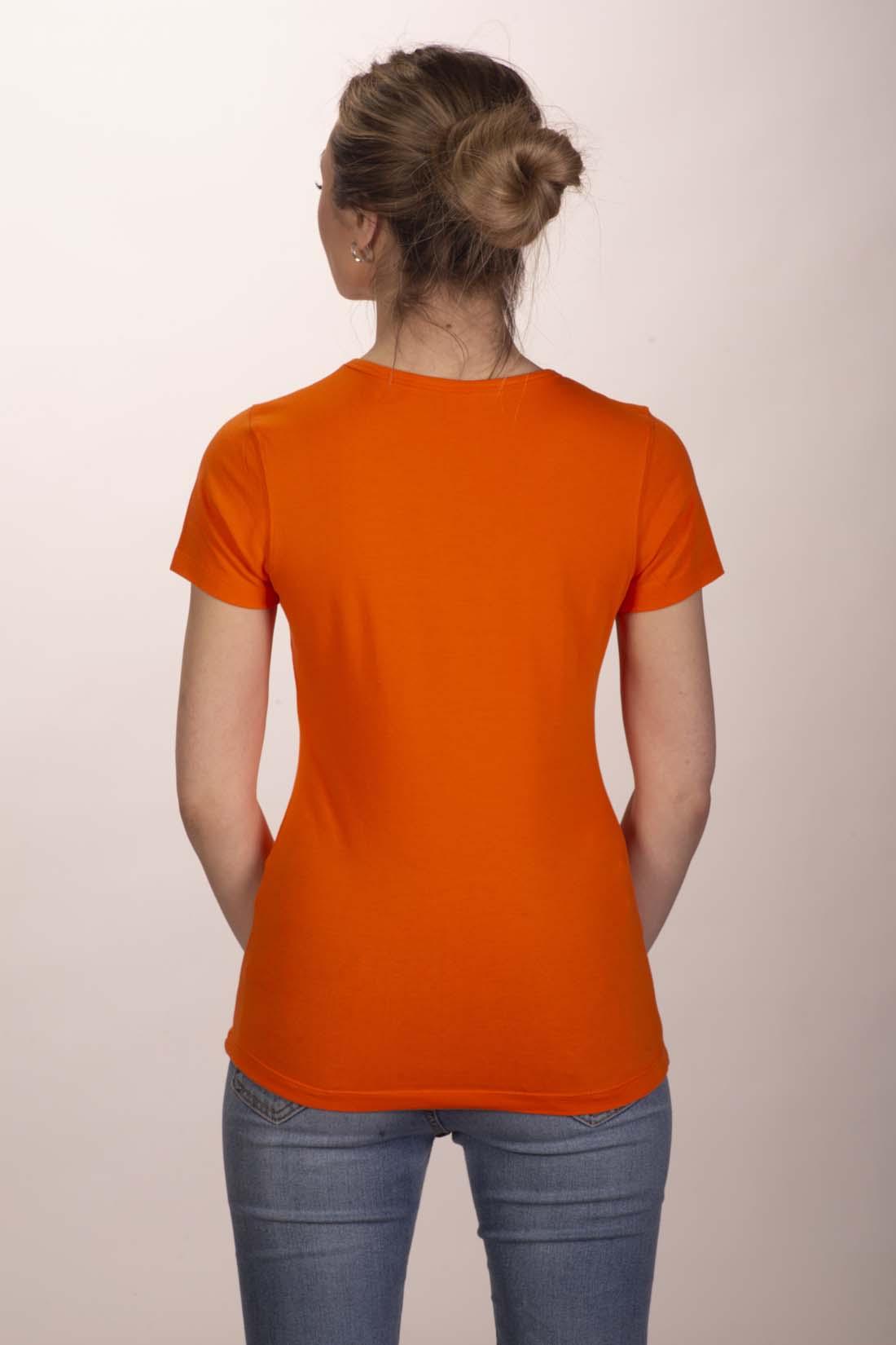 Футболка женская оранжевая 2