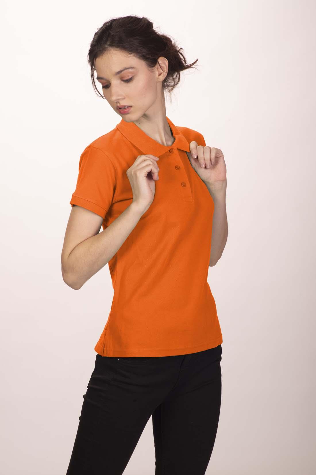 Поло женское оранжевое 3