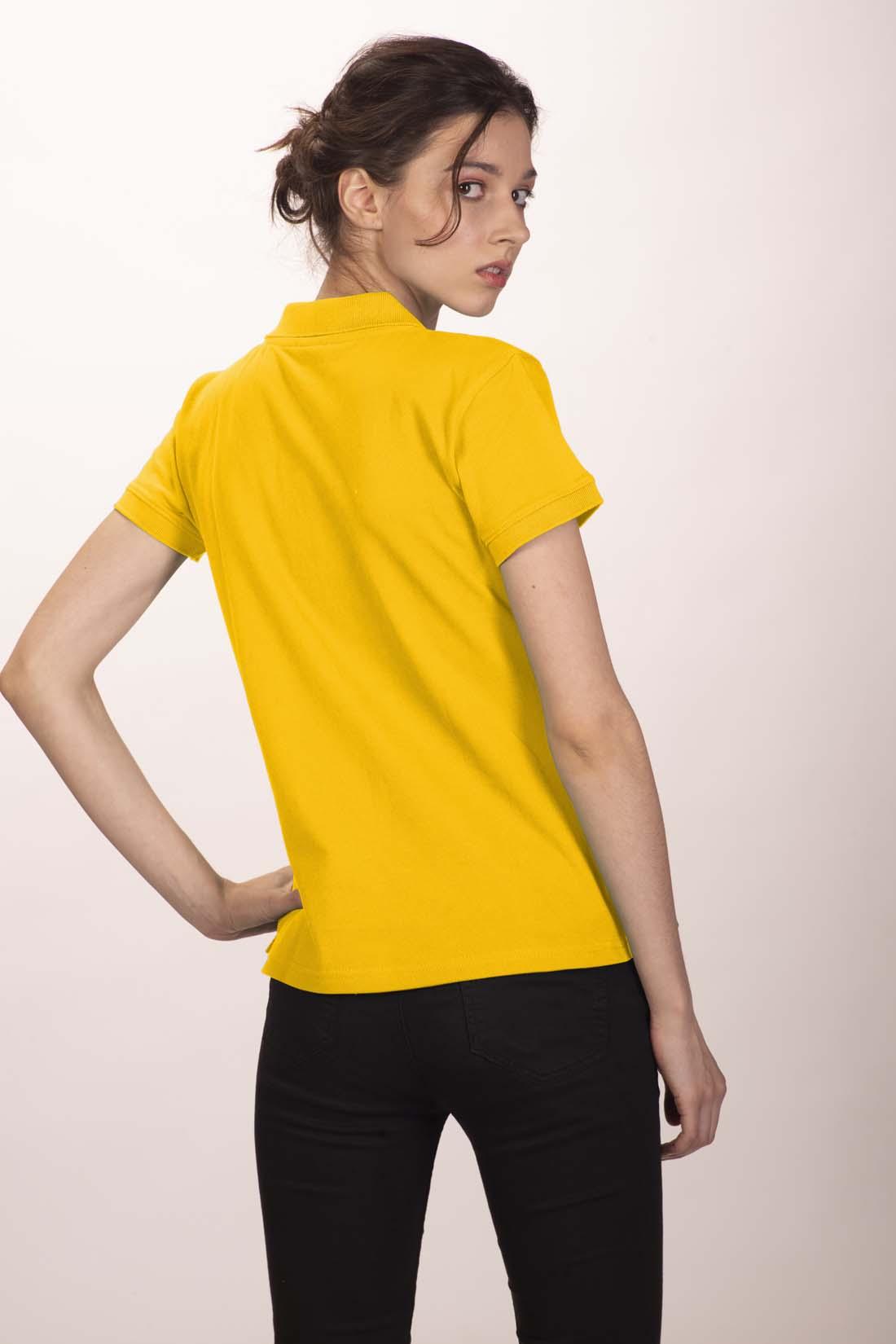 Поло женское желтое 3