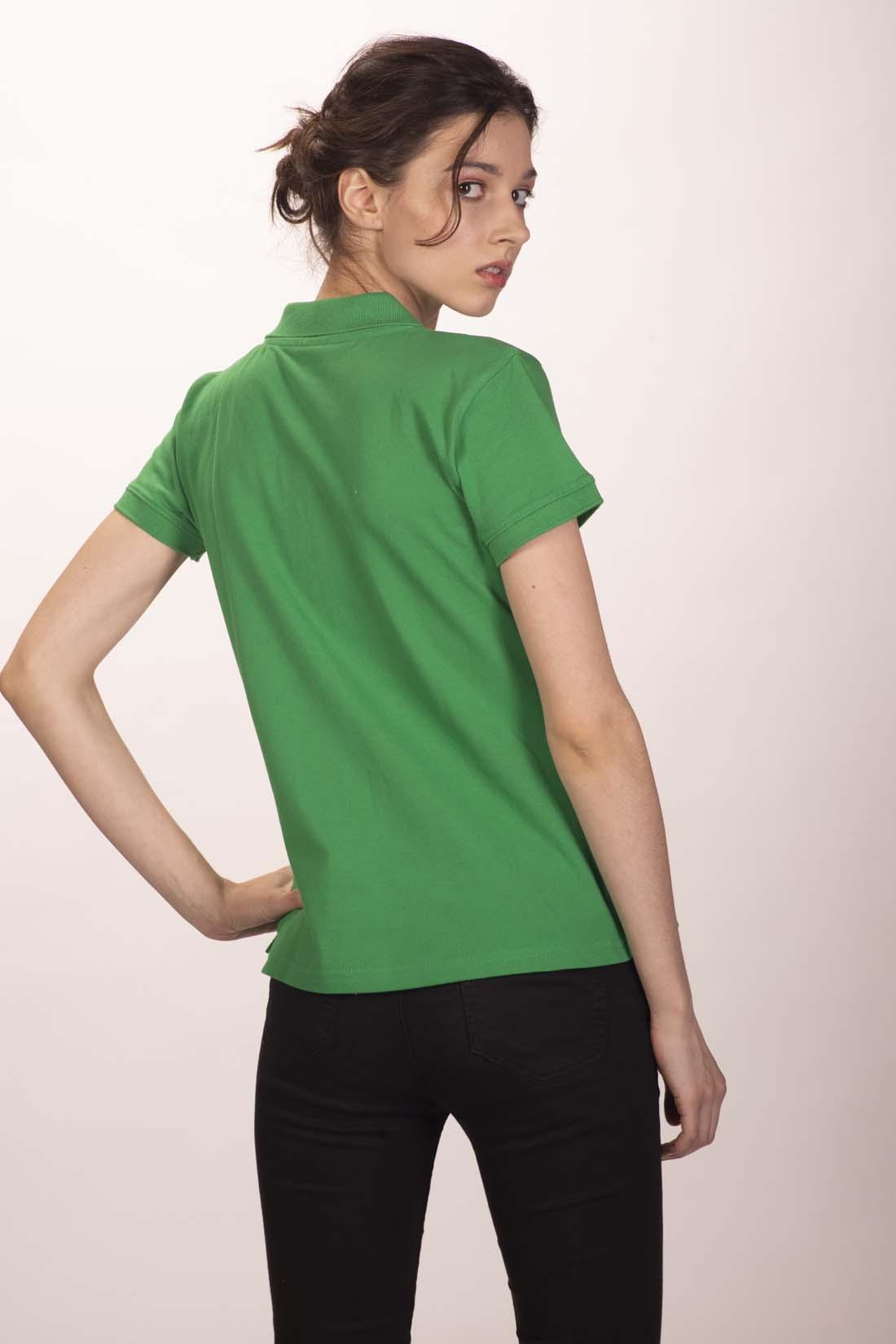 Поло женское зелёное 3