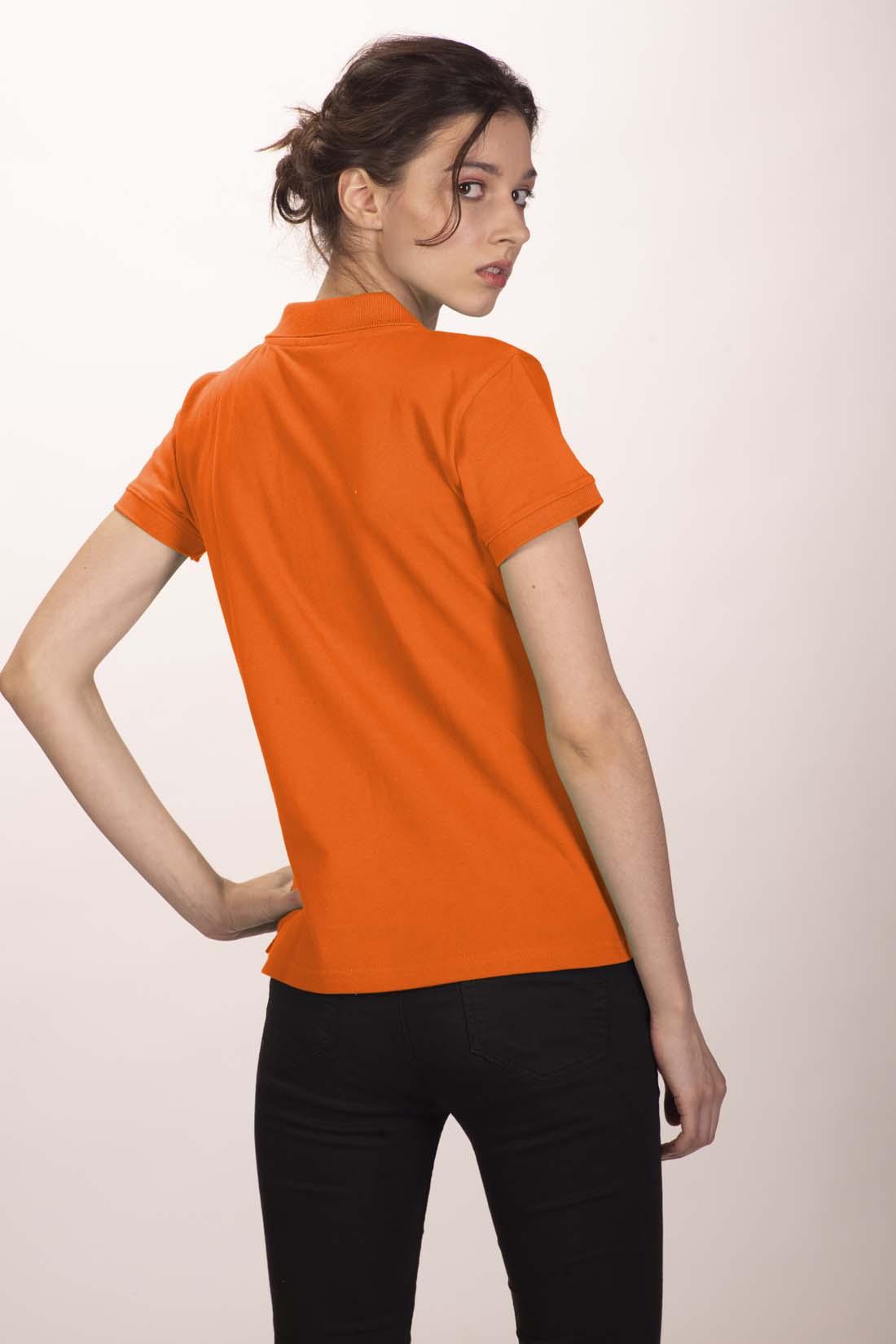 Поло женское оранжевое 4