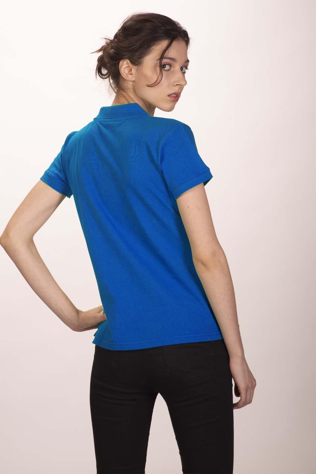 Поло женское синее 4