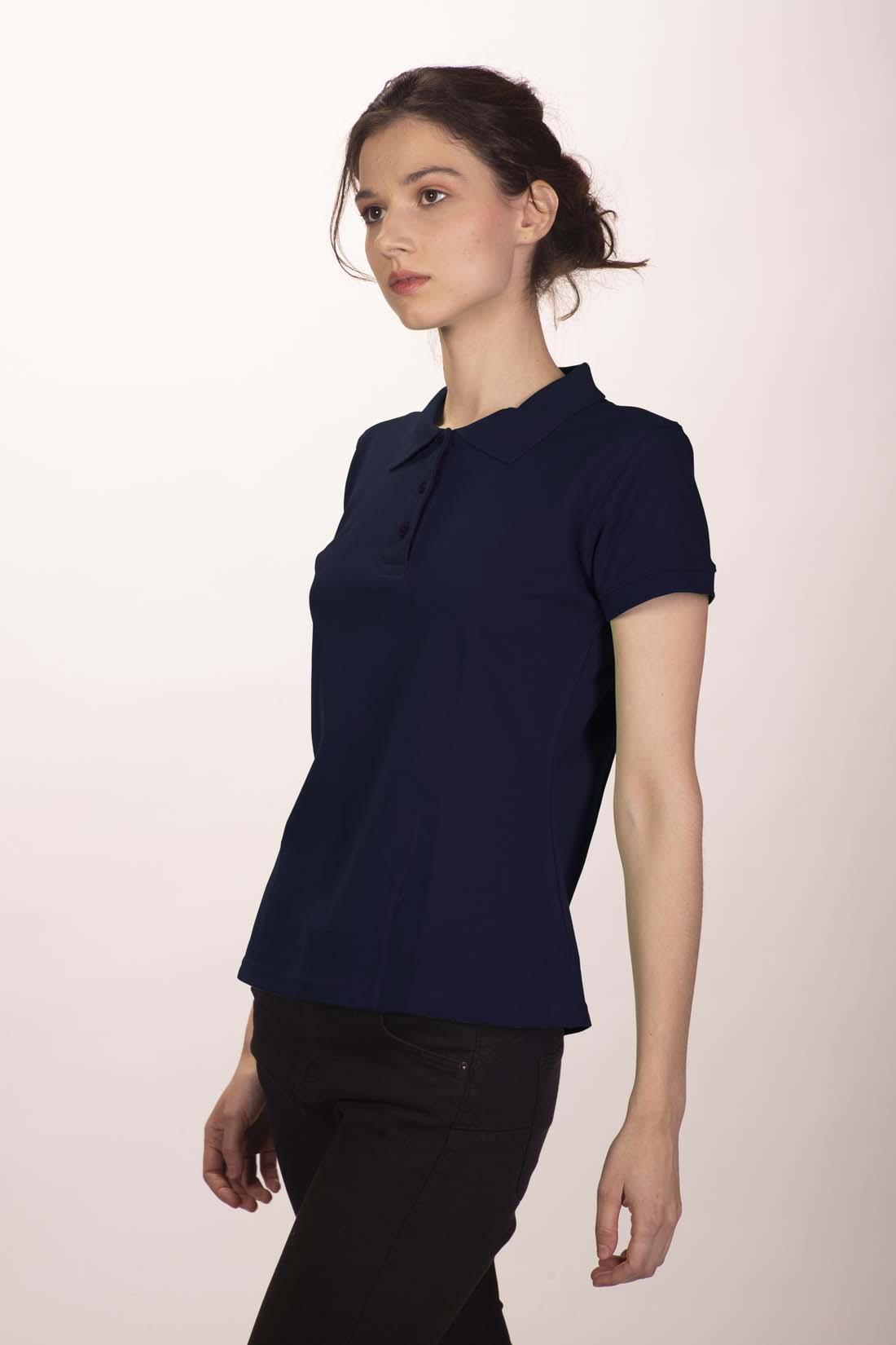 Поло женское тёмно - синее 1