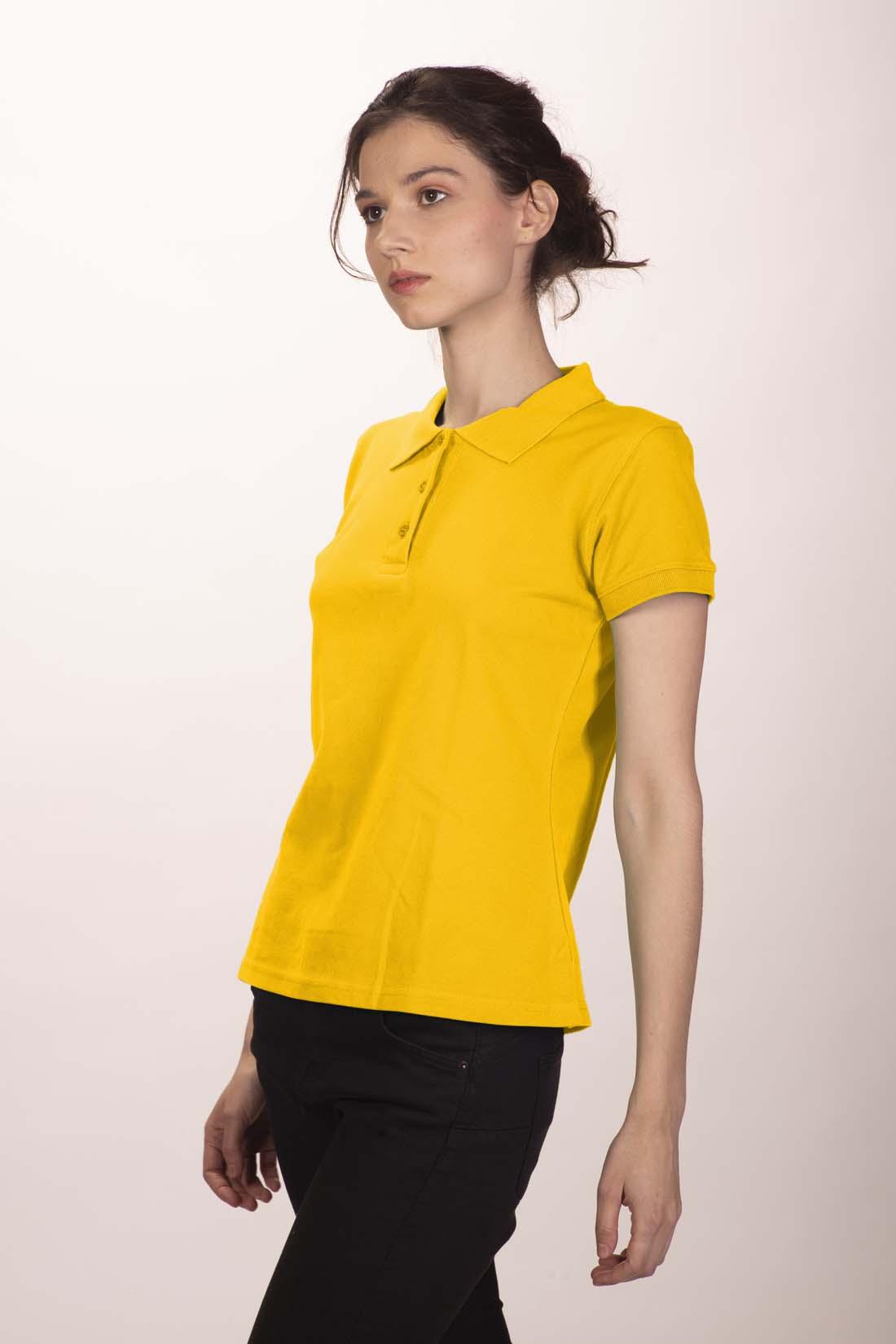 Поло женское желтое 2