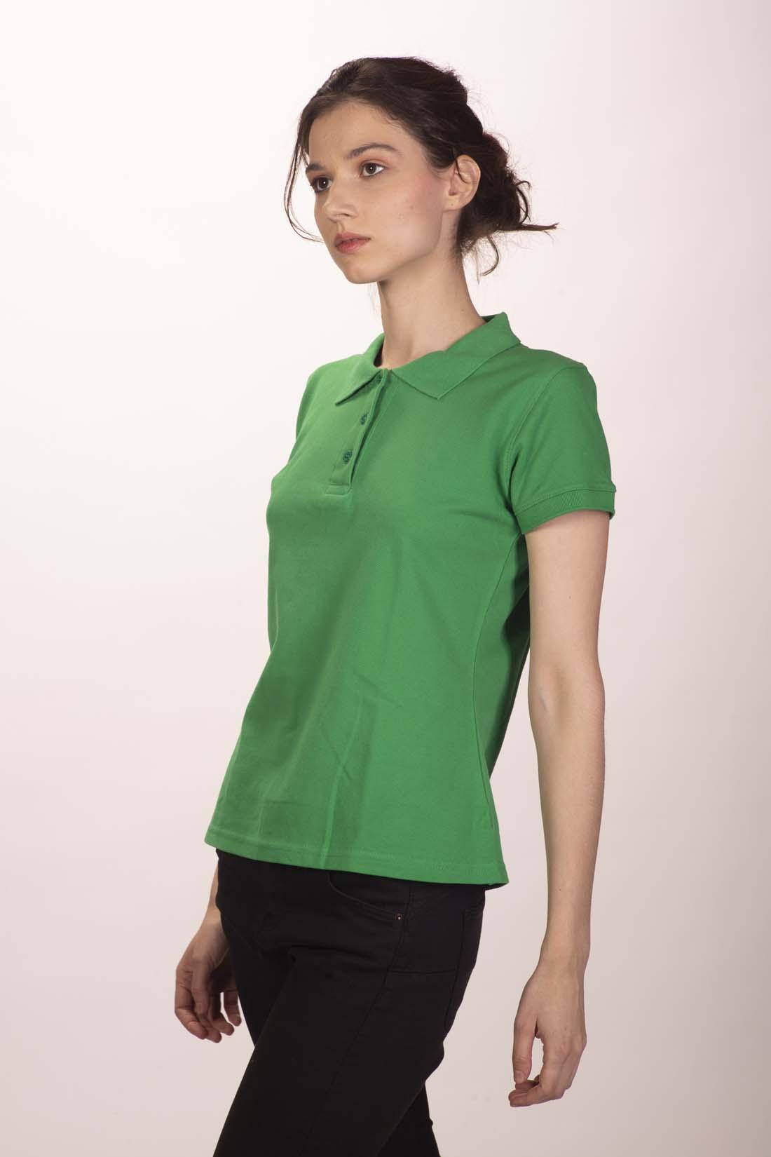 Поло женское зелёное 1