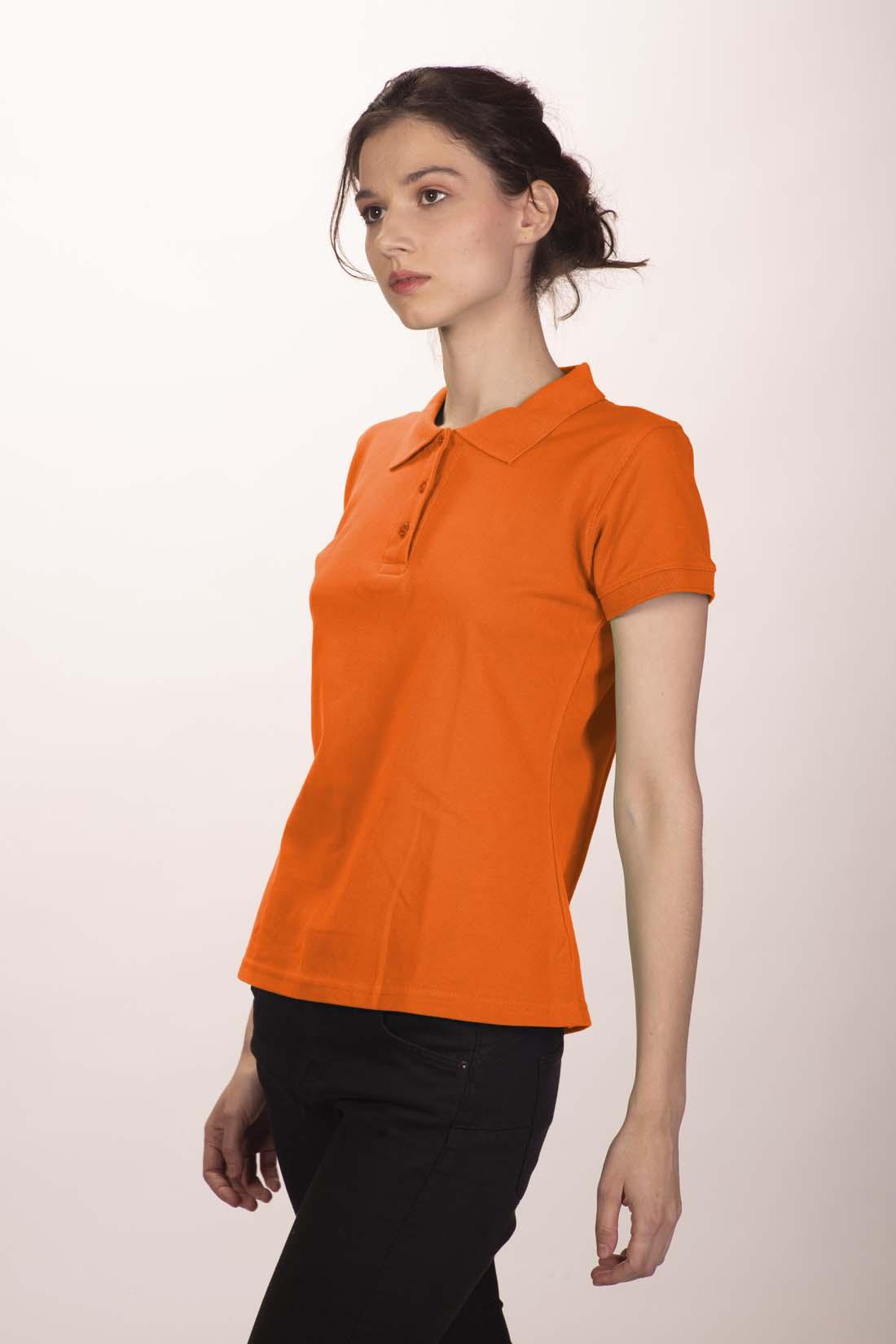 Поло женское оранжевое 1