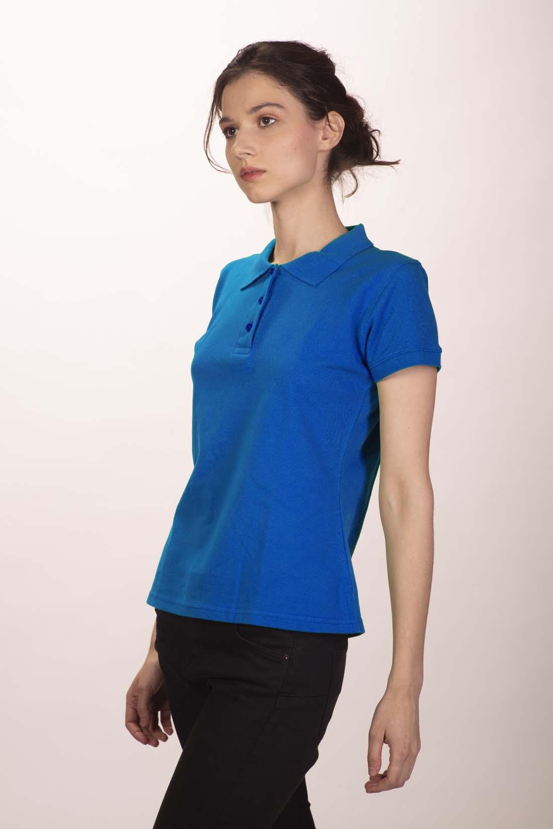 Поло женское синее 2
