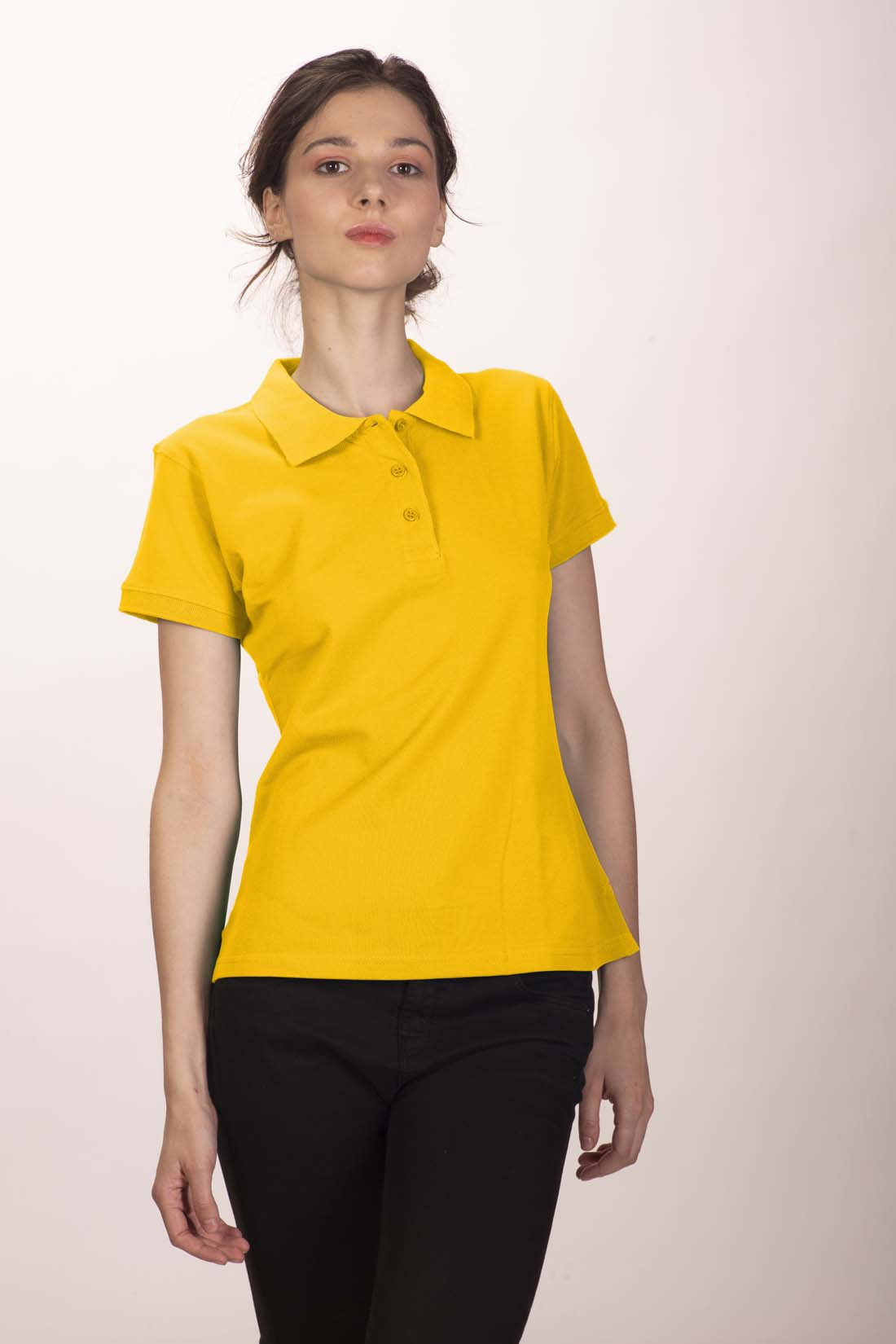 Поло женское желтое 1