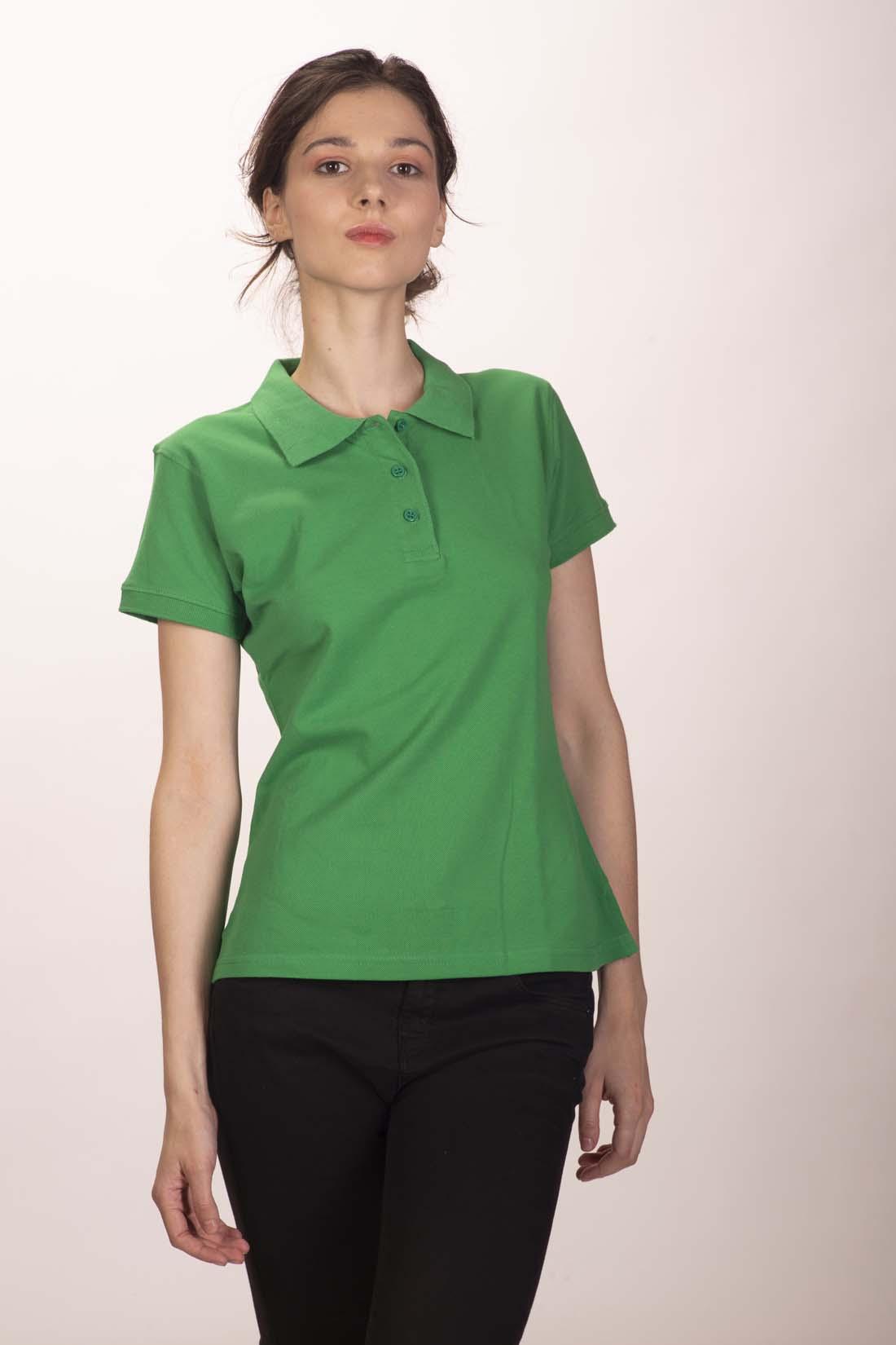 Поло женское зелёное 2