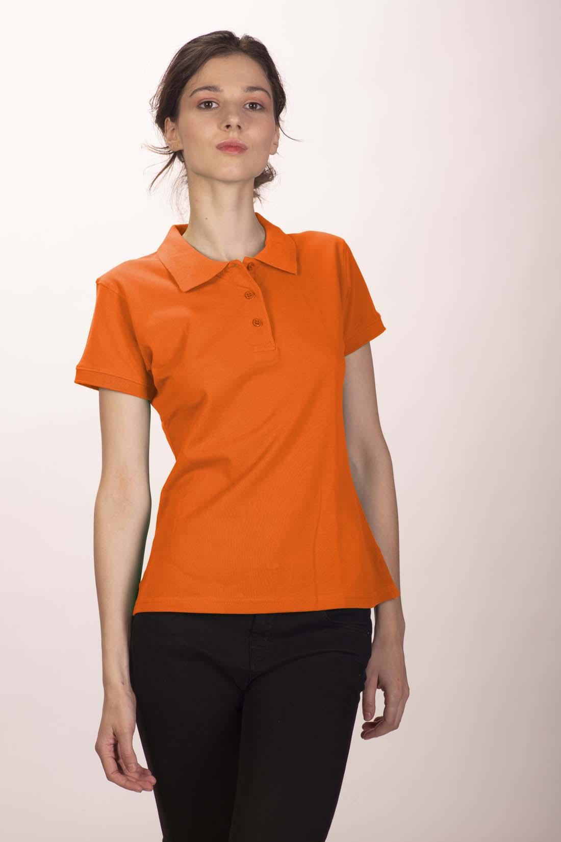 Поло женское оранжевое 2