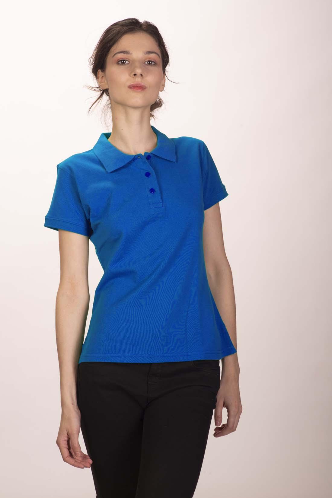 Поло женское синее 1