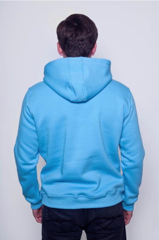Голубая мужская толстовка 2