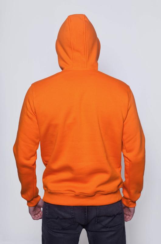 Оранжевая мужская толстовка 2