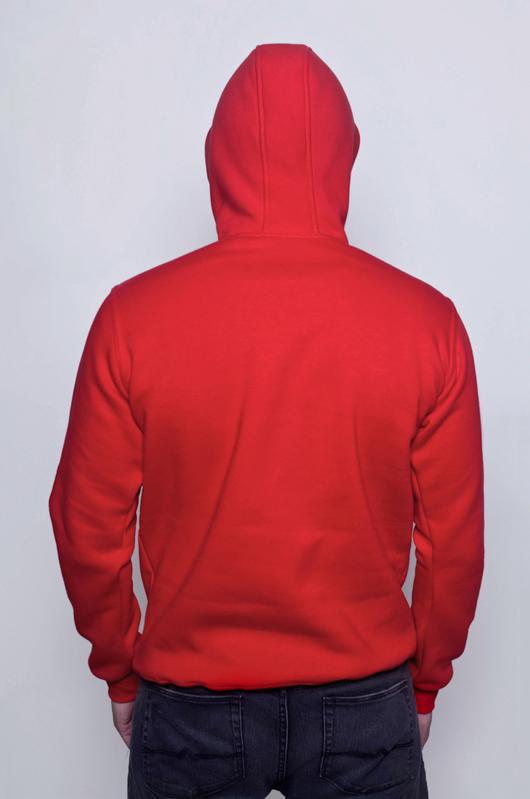 Красная мужская толстовка 2