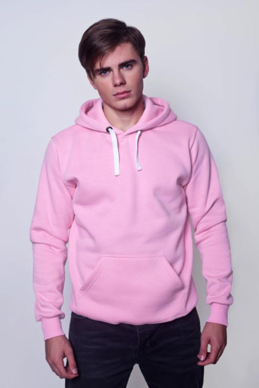 Розовая мужская толстовка 1