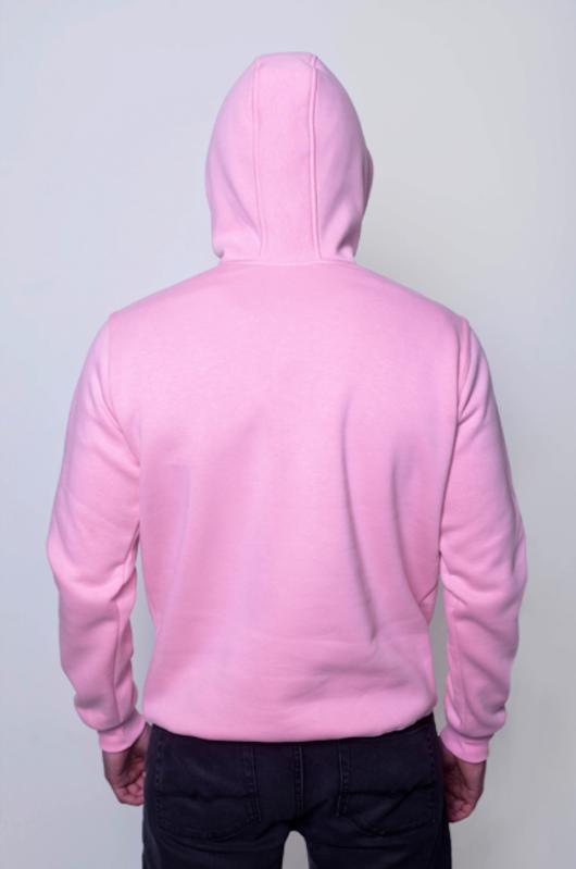 Розовая мужская толстовка 2