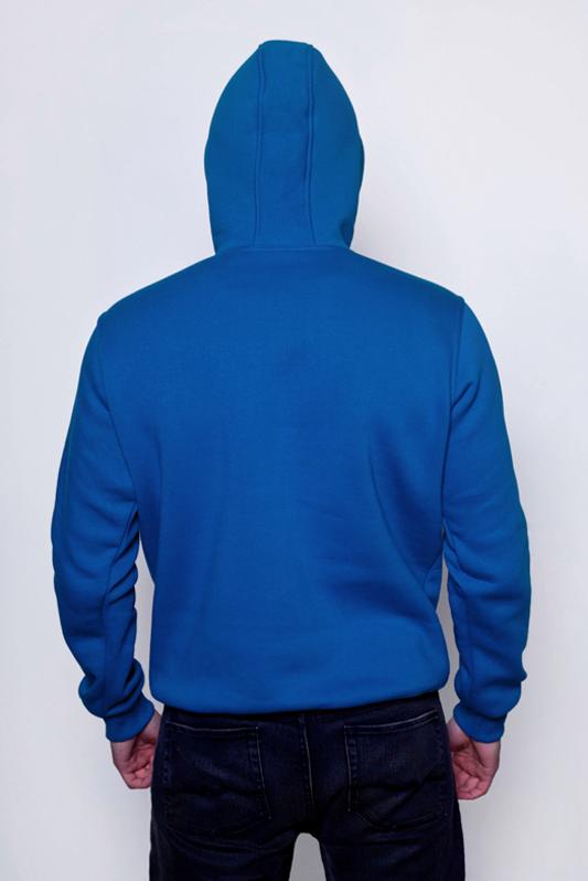 Синяя мужская толстовка 2
