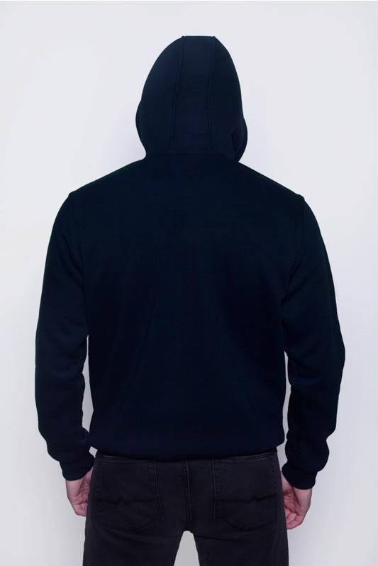 Темно-синяя мужская толстовка 2