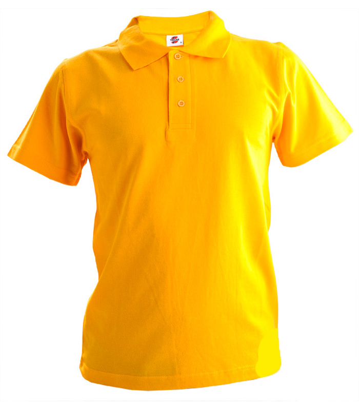 Поло мужское желтое 1